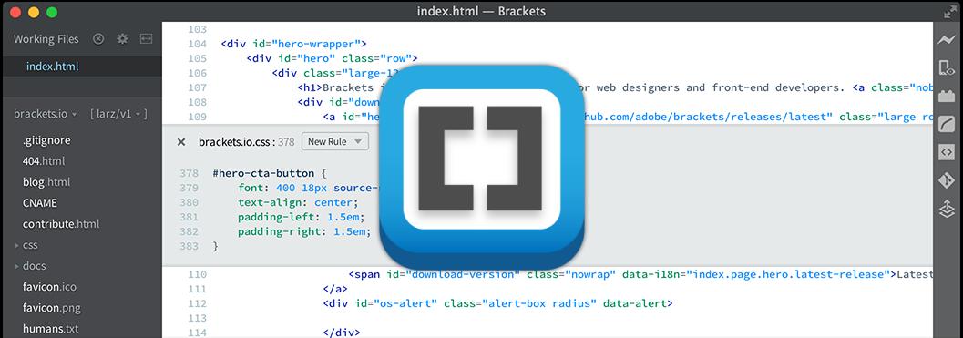 Lançada nova versão do Adobe Brackets com melhor suporte